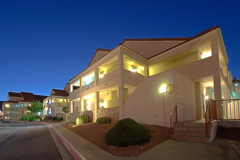 An evening at our El Paso villa-style hotel.